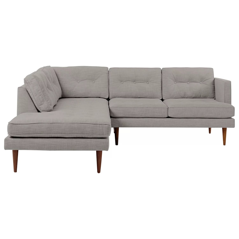 left arm return sofa modern microfiber grey sectional west elm peggy set 2 right terminal