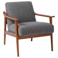 west elm Mid-Century Show Wood Upholstered Chair, Salt ...