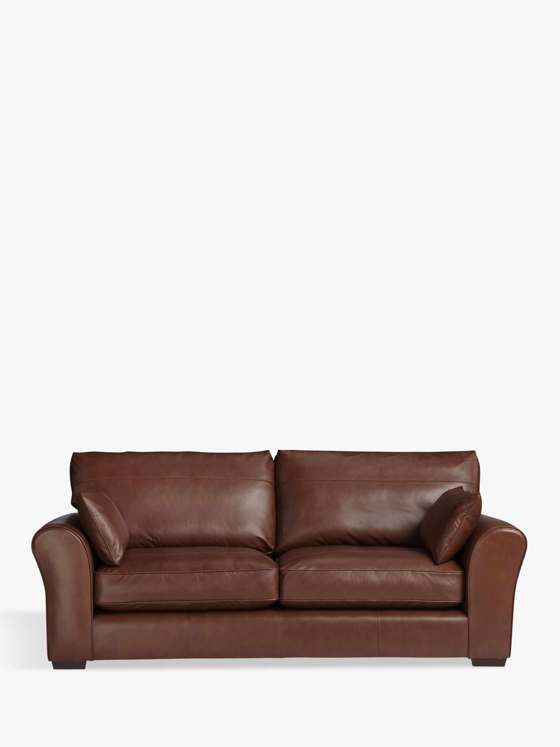 sacha large leather sofa bed madras chocolate ottoman melbourne john lewis