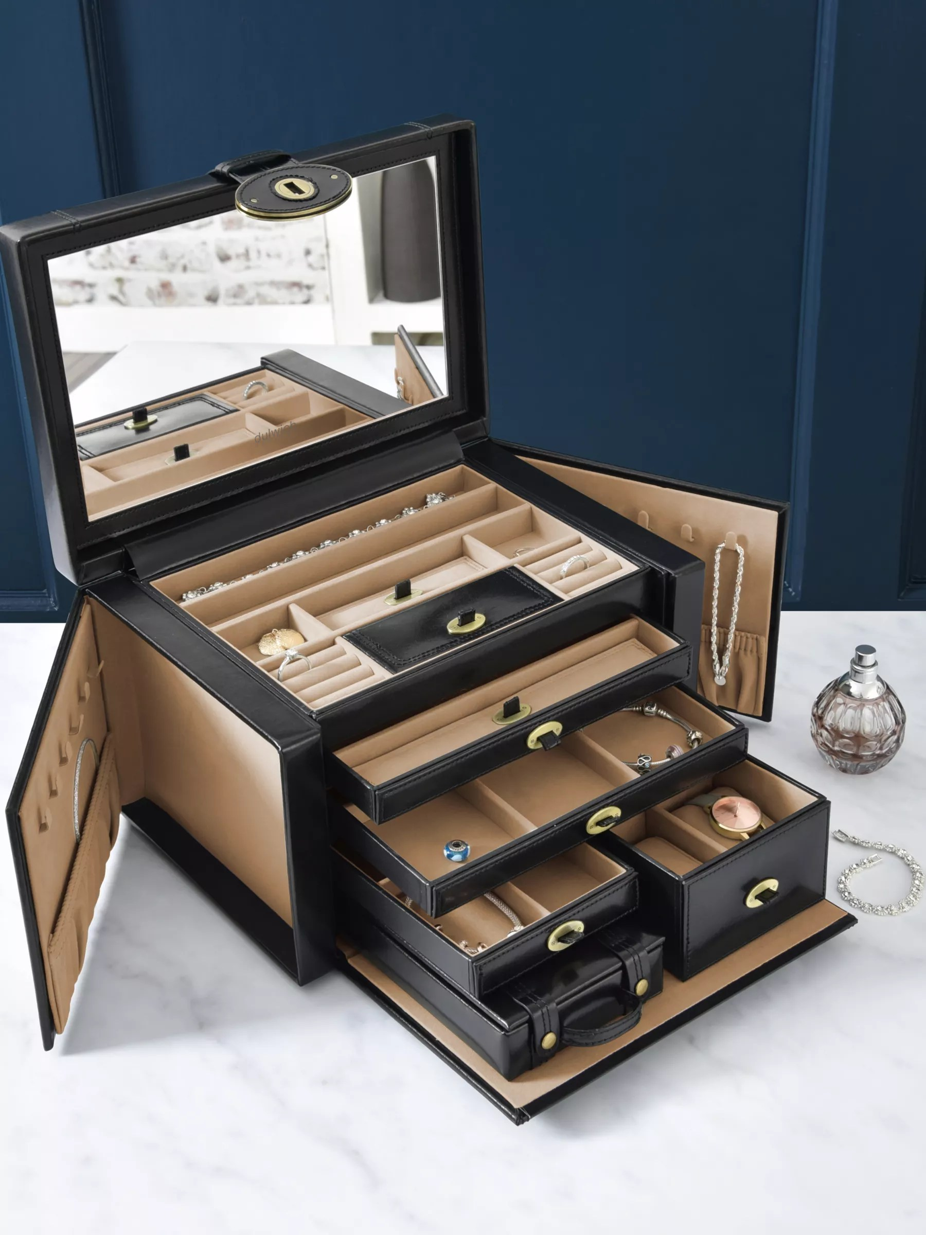 Jewelery Box Designs : jewelery, designs, Dulwich, Designs, Heritage, Extra, Large, Jewellery, Black, Lewis, Partners