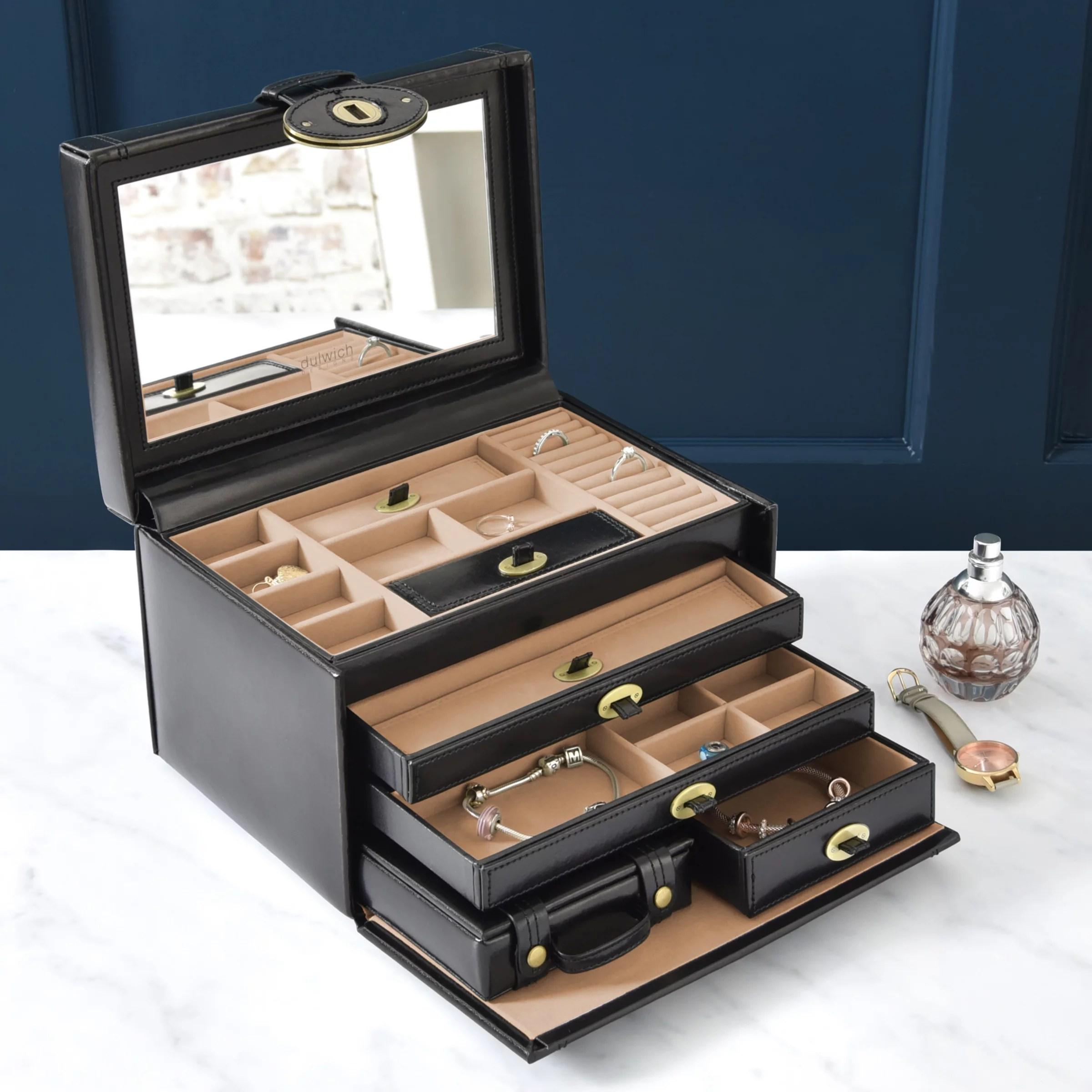 Jewelery Box Designs : jewelery, designs, Dulwich, Designs, Heritage, Large, Jewellery, Black, Lewis, Partners