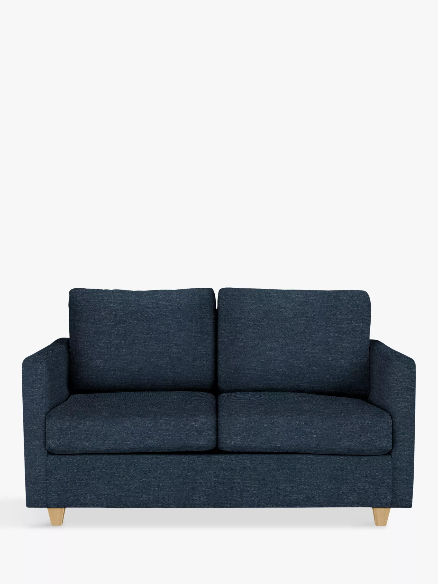 John Lewis Partners Barlow Small 2 Seater Sofa Bed With Pocket Sprung Mattress Erin Midnight