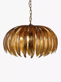 John Lewis Montserrat Ceiling Light, Gold at John Lewis