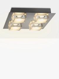John Lewis Arlo LED Bathroom Ceiling Light, Chrome at John ...