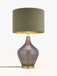 Buy John Lewis Ursula Table Lamp, Smoked Glass   John Lewis