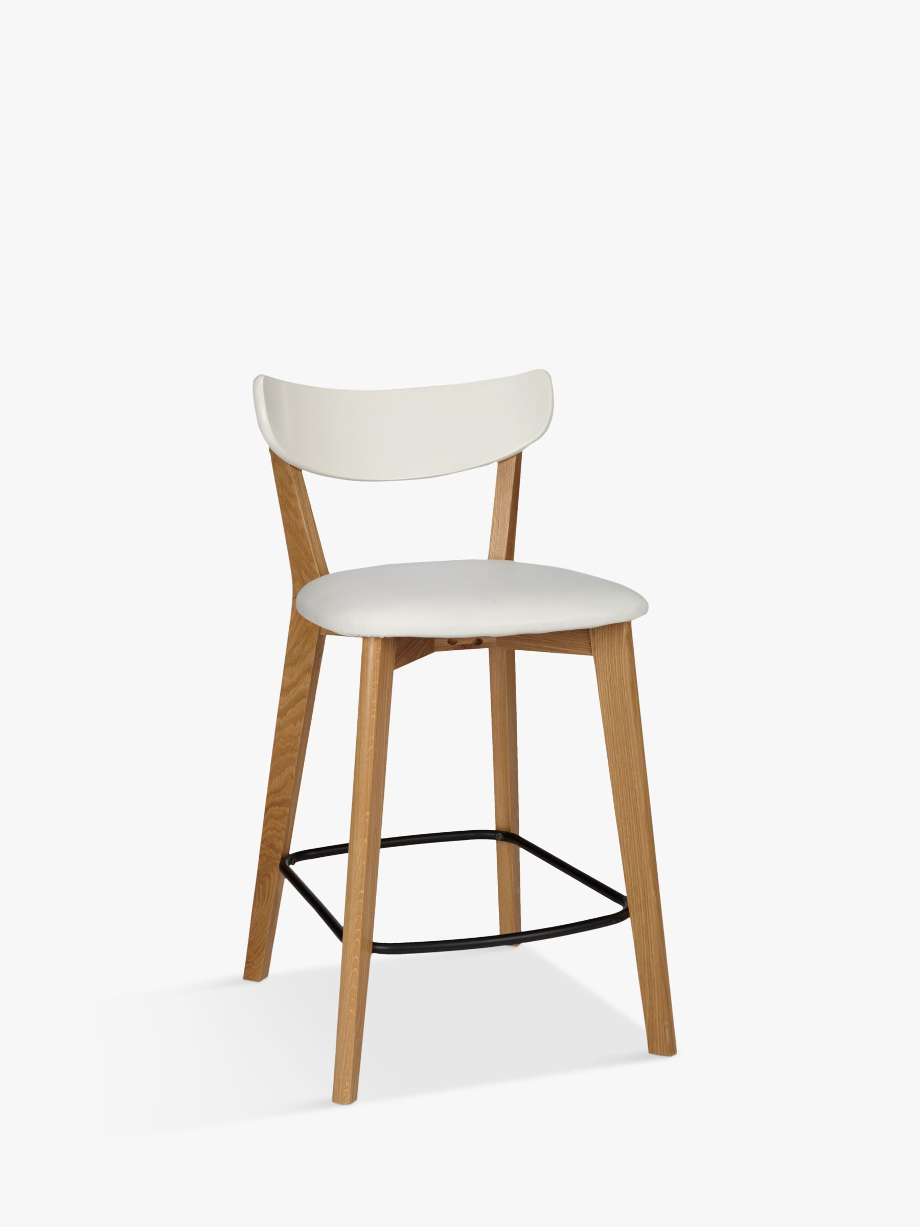 kitchen stools with backs moen faucets repair bar chairs breakfast john lewis partners house by clio chair oak white
