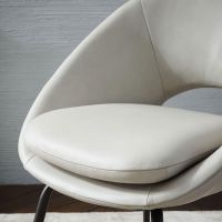 Buy west elm Orb Upholstered Dining Chair, Cement | John Lewis