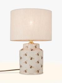 India Jane Bee Canister Jar Ceramic Lamp Base, Natural at ...