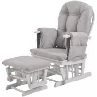Kub Haywood Reclining Glider Nursing Chair and Footstool ...