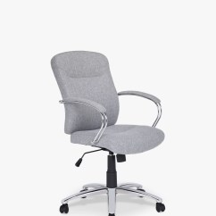 Fabric Office Chairs Uk Revolving Armchair John Lewis And Partners Warner Chair Grey At