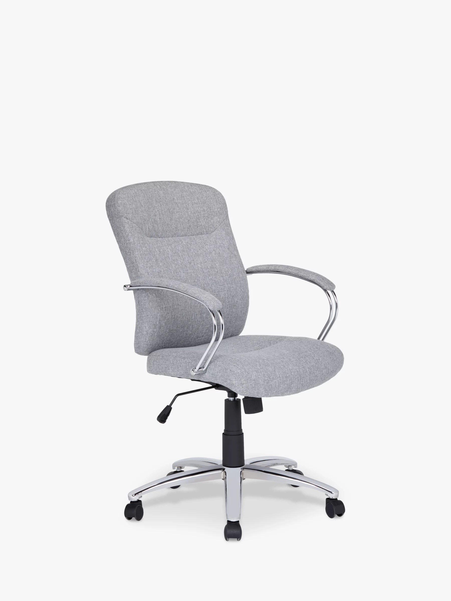 grey fabric swivel office chair walmart table and chairs set john lewis partners warner at