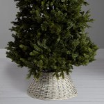 John Lewis Into The Woods Wicker Distressed Tree Skirt White At John Lewis Partners