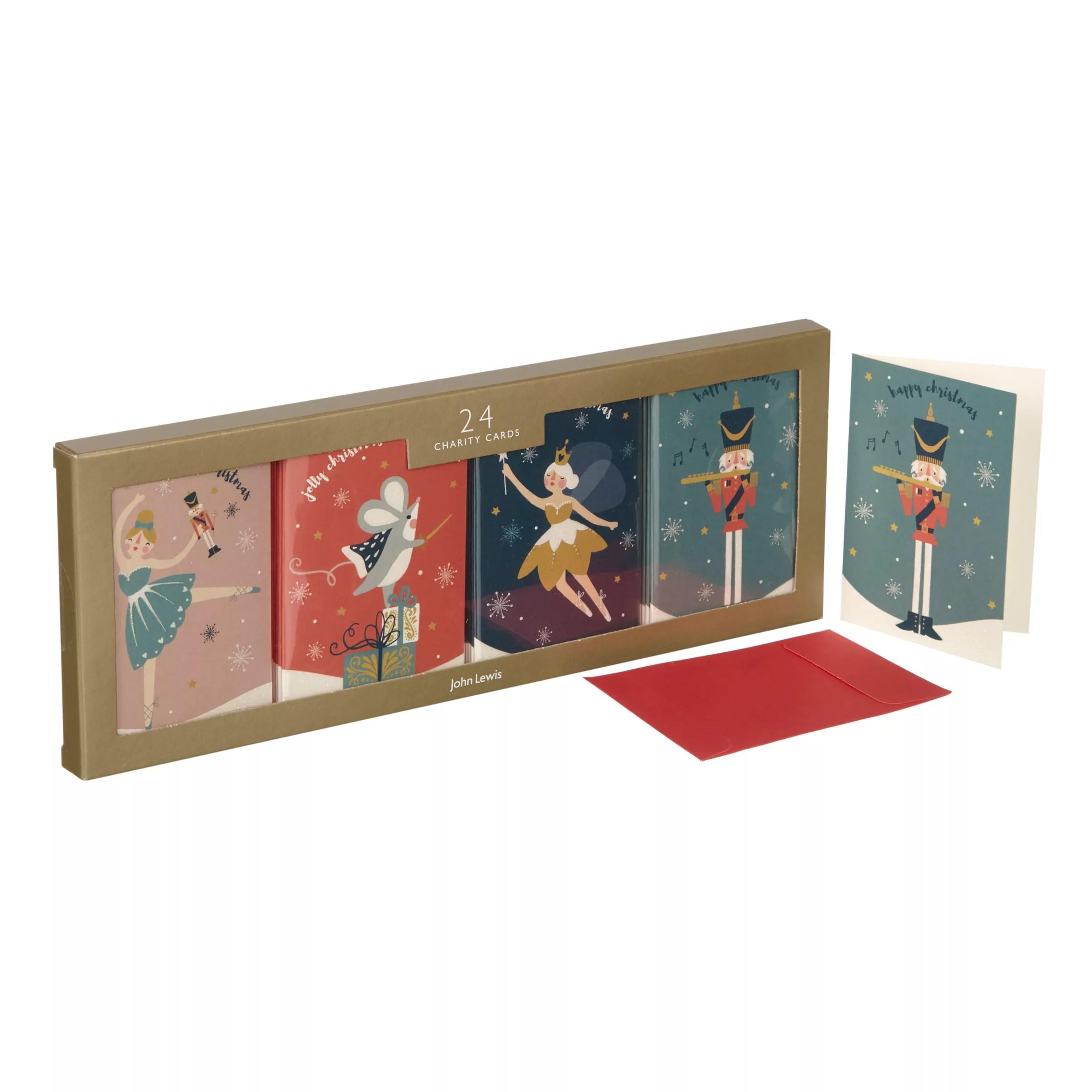 John Lewis Nutcracker Mini Charity Christmas Card Pack Of