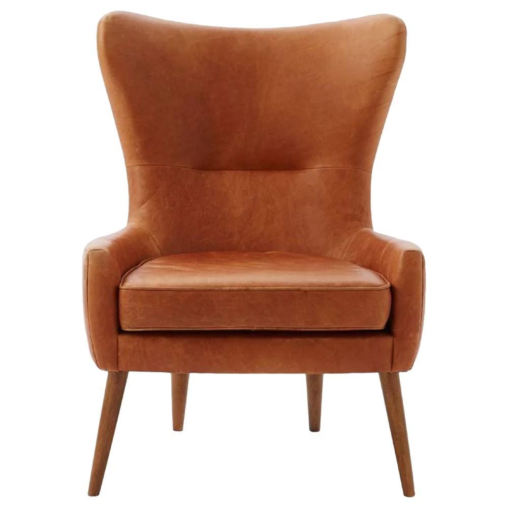 swing chair malta waterproof covers for recliners buy west elm erik leather chair, saddle | john lewis