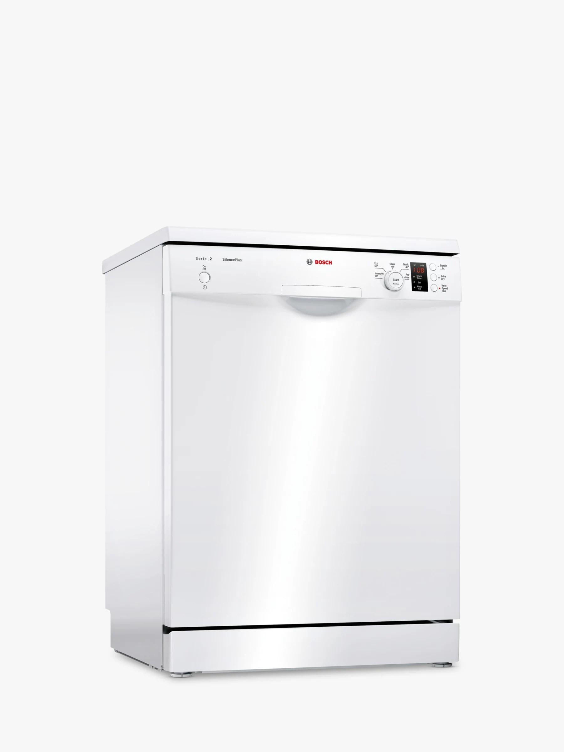 Bosch SMS25EW00G Freestanding Dishwasher, White at John Lewis & Partners