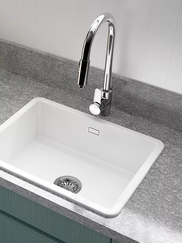 ceramic kitchen sink best camp clearwater metro large single bowl white at buyclearwater online johnlewis com