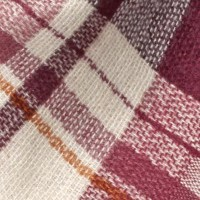 Fat Face Bella Check Scarf, Plum/Multi at John Lewis