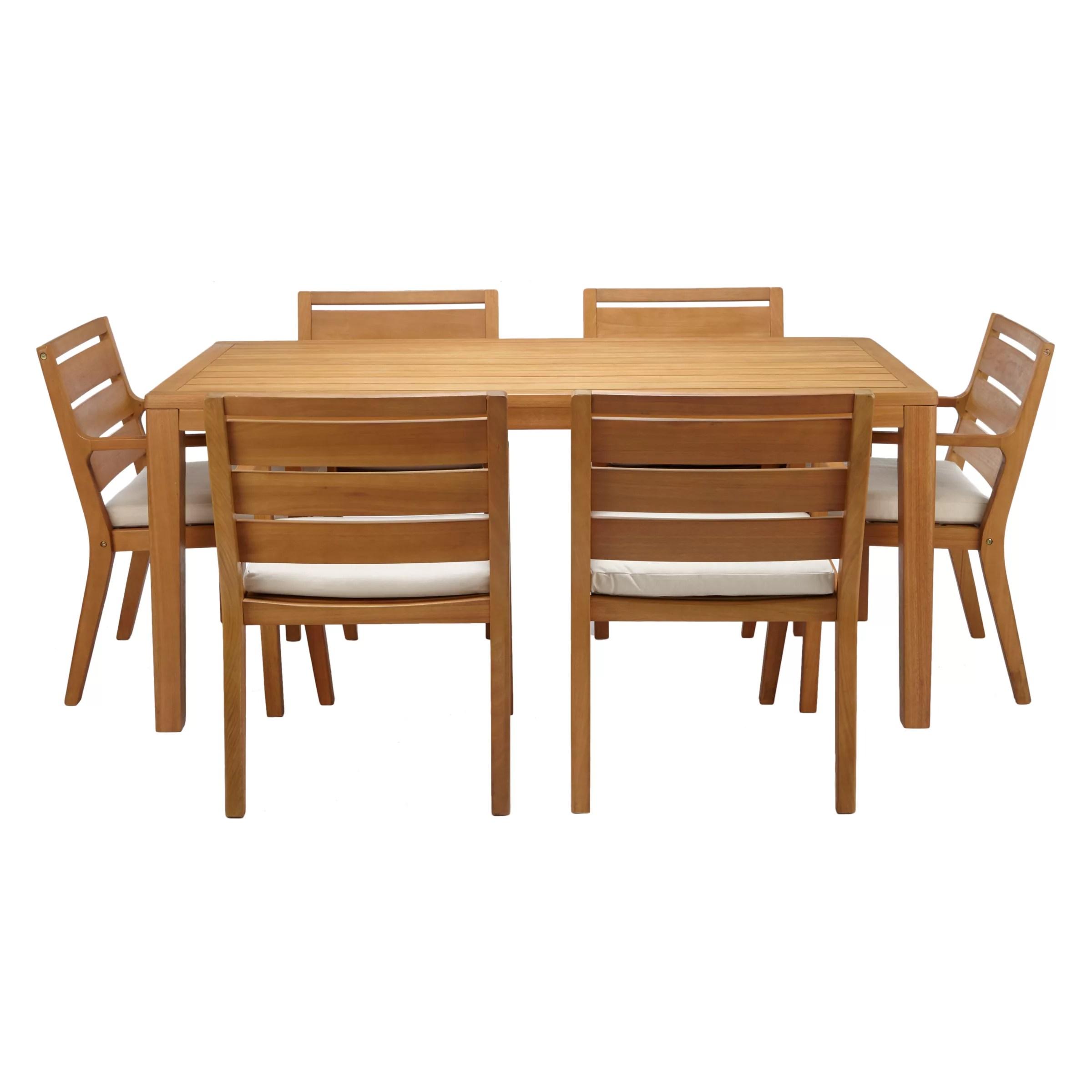 kitchen table chairs set wall mounted utensil holder john lewis alta 6 seat garden dining fsc buyjohn certified