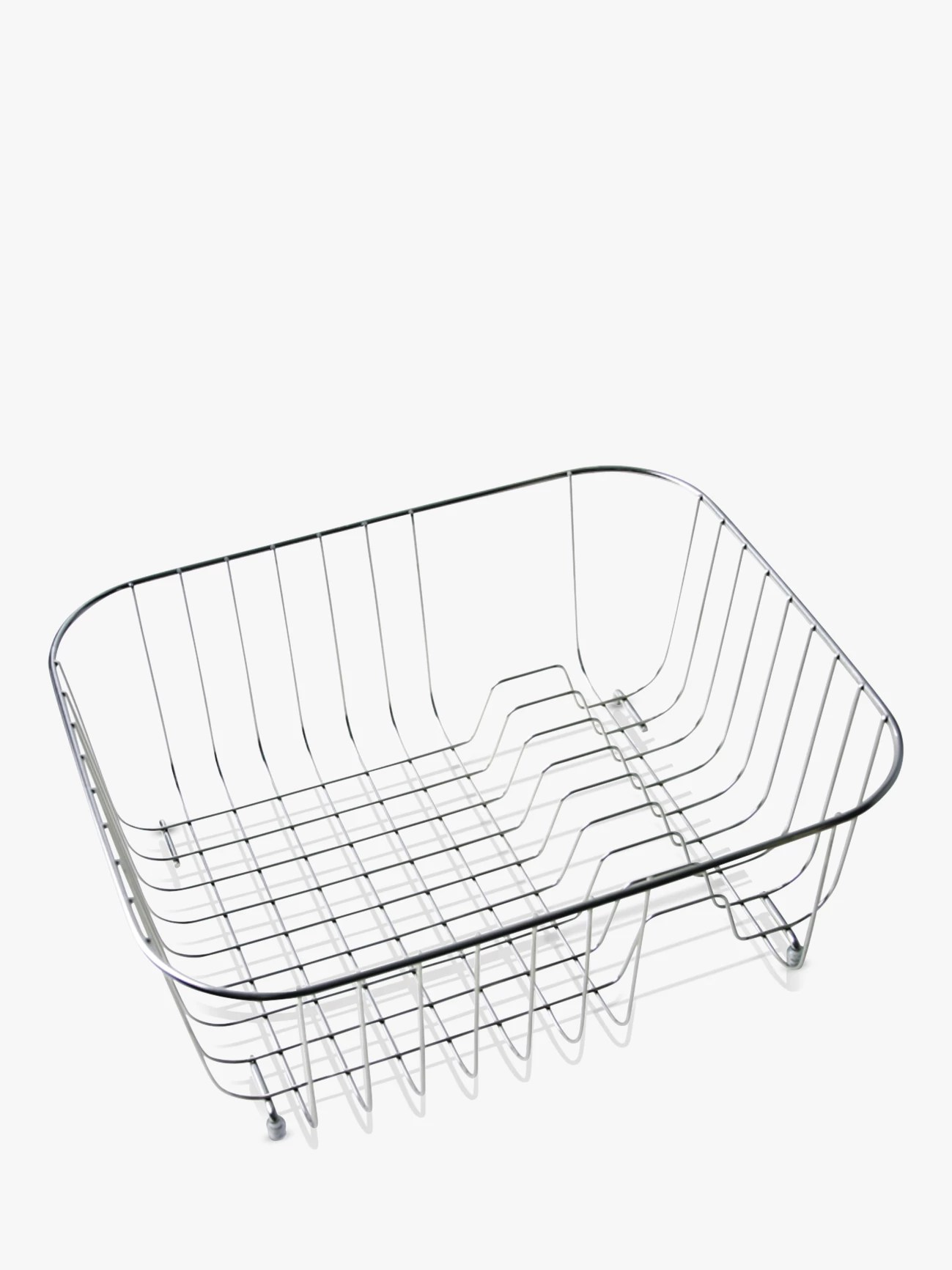 kitchen drainer basket drawers for cabinets dish racks mats cutlery john lewis clearwater tango sink rack stainless steel