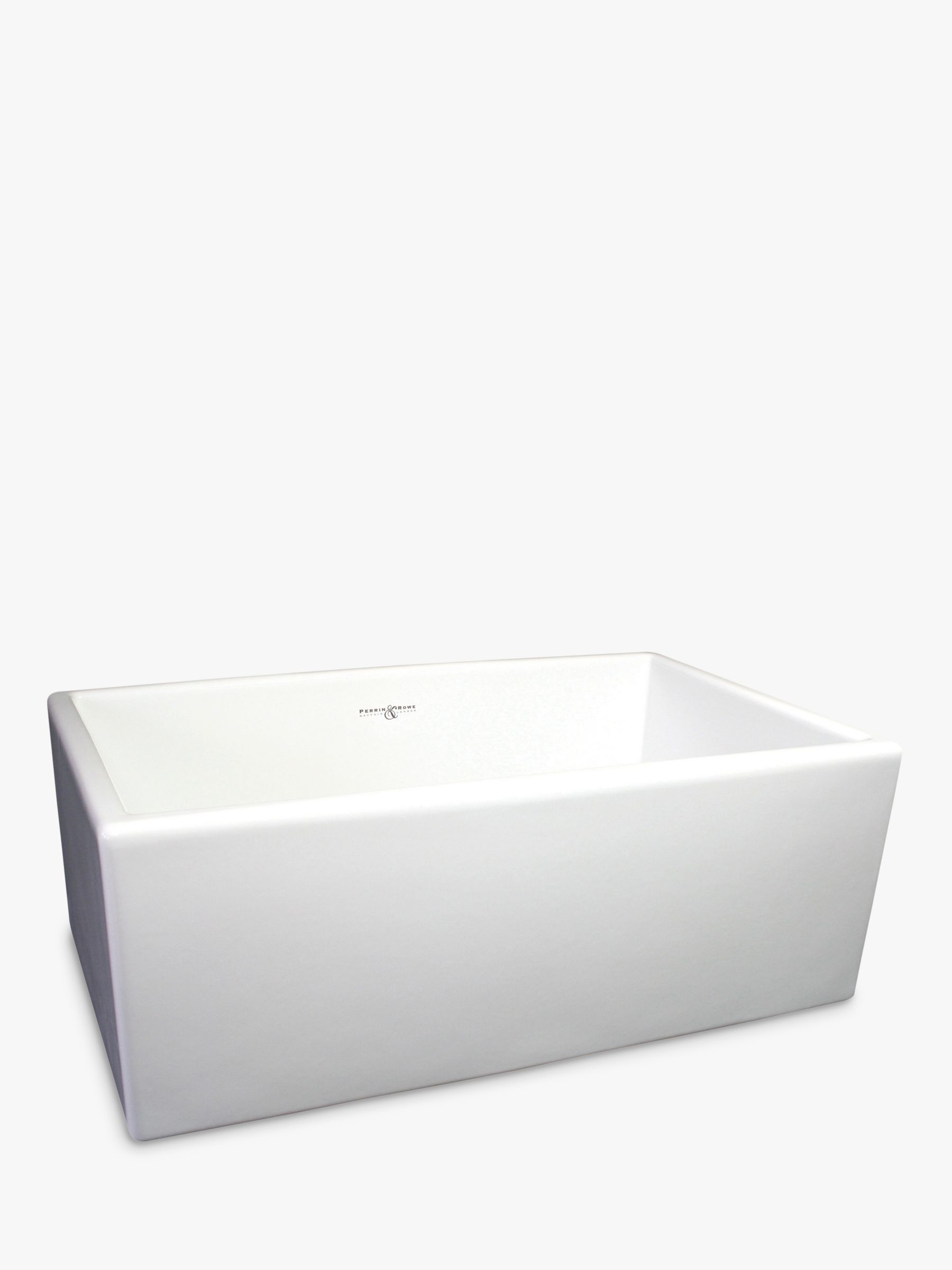 kitchen sink white storage carts sinks diy home garden john lewis partners perrin rowe shaker 800 single bowl farmhouse ceramic