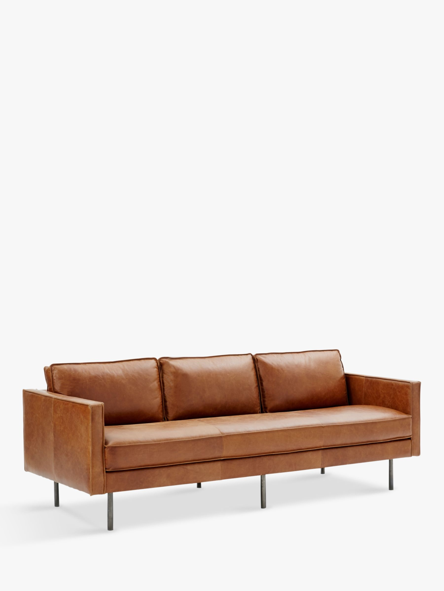 west elm leather sofa reviews sam s club power recliner axel large 3 seater sienna at john