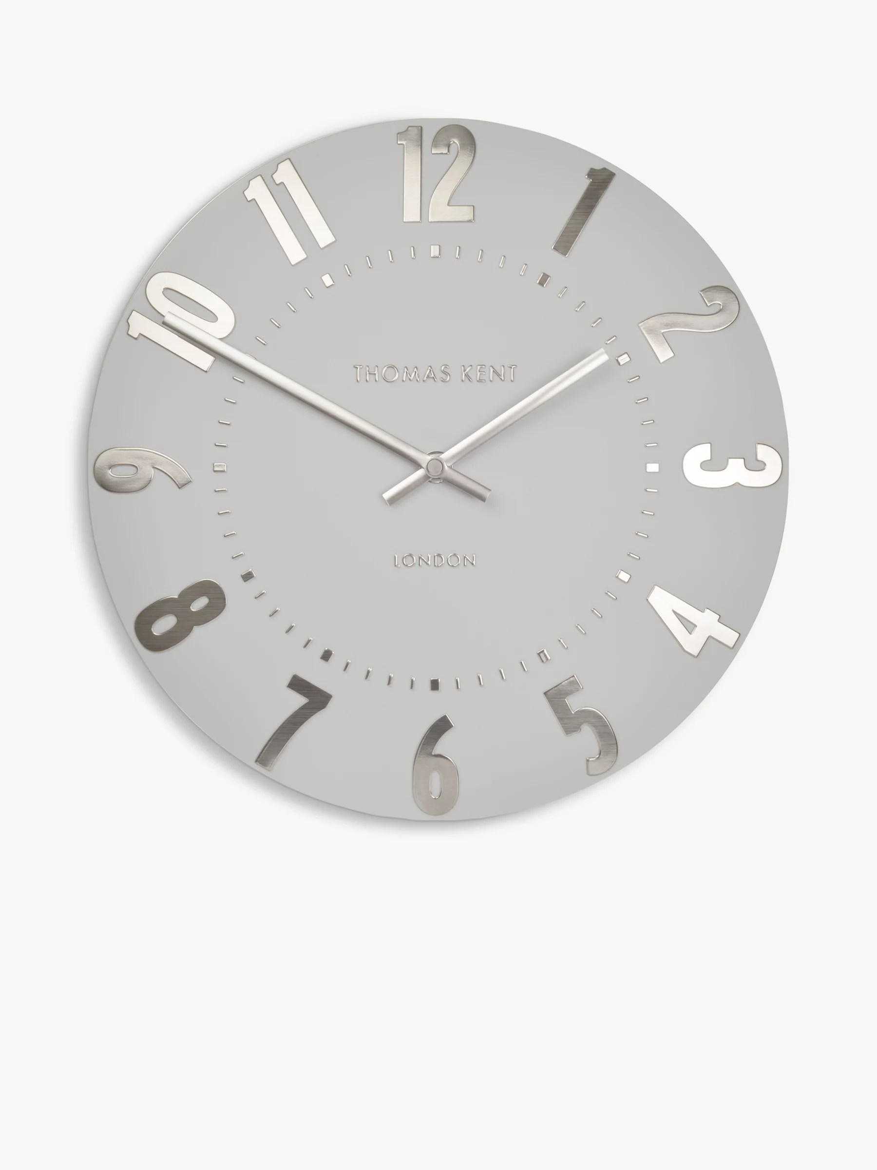 kitchen wall clocks appliance packages lowes silver john lewis partners thomas kent mulberry clock dia 30cm cloud