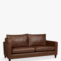 Bailey Leather Sofa Bed Bench Seat Cushion John Lewis And Partners Large 3 Seater