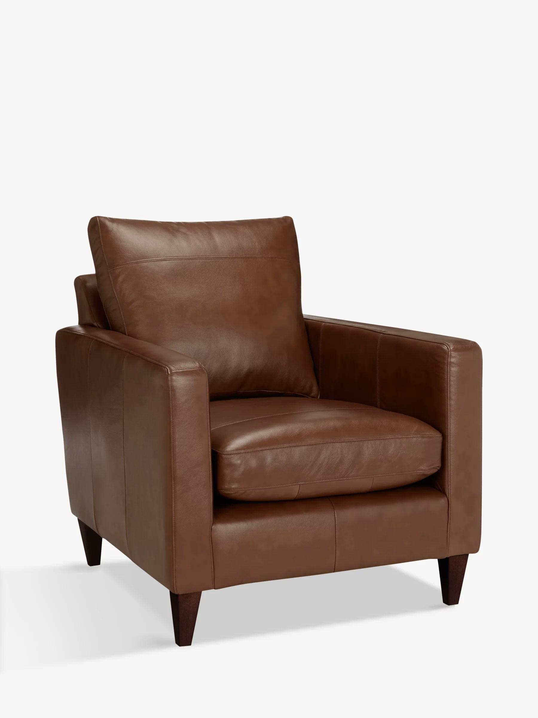 dark brown leather chair ikea black office armchairs furniture john lewis partners bailey armchair leg milan chestnut