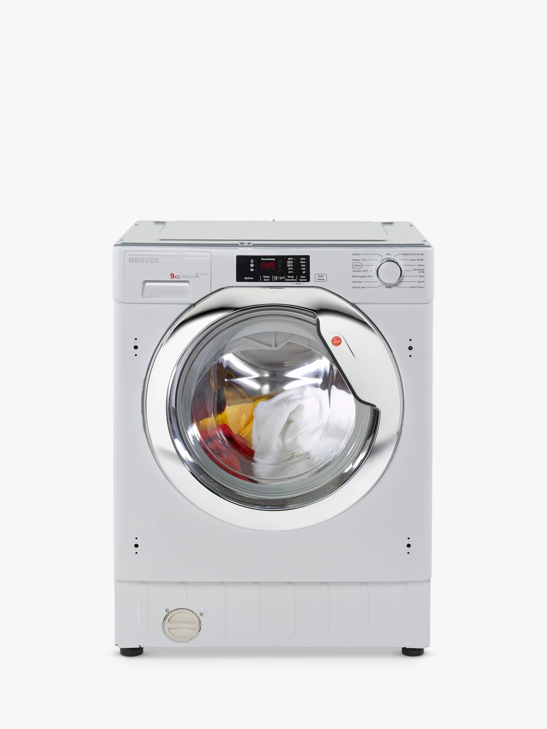small resolution of buyhoover hbwm 914dc 80 integrated washing machine 9kg load a energy rating