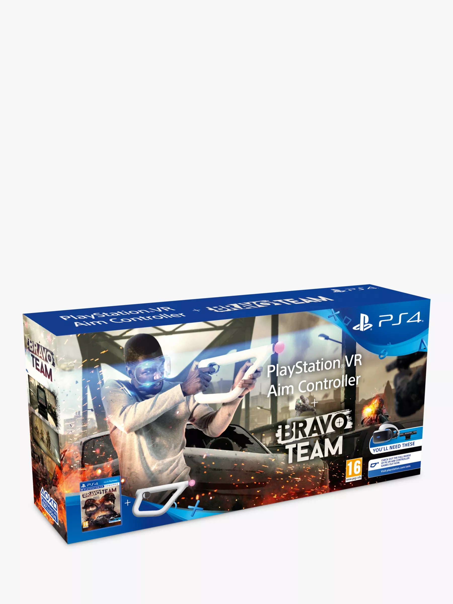 Bravo Team Ps Vr Game For Ps4 With Playstation Vr Aim