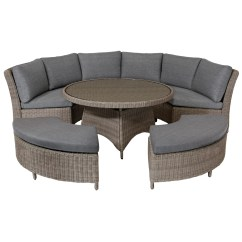 8 Seater Round Dining Table And Chairs Simply Bows Chair Covers Harrogate Kettler Palma Garden