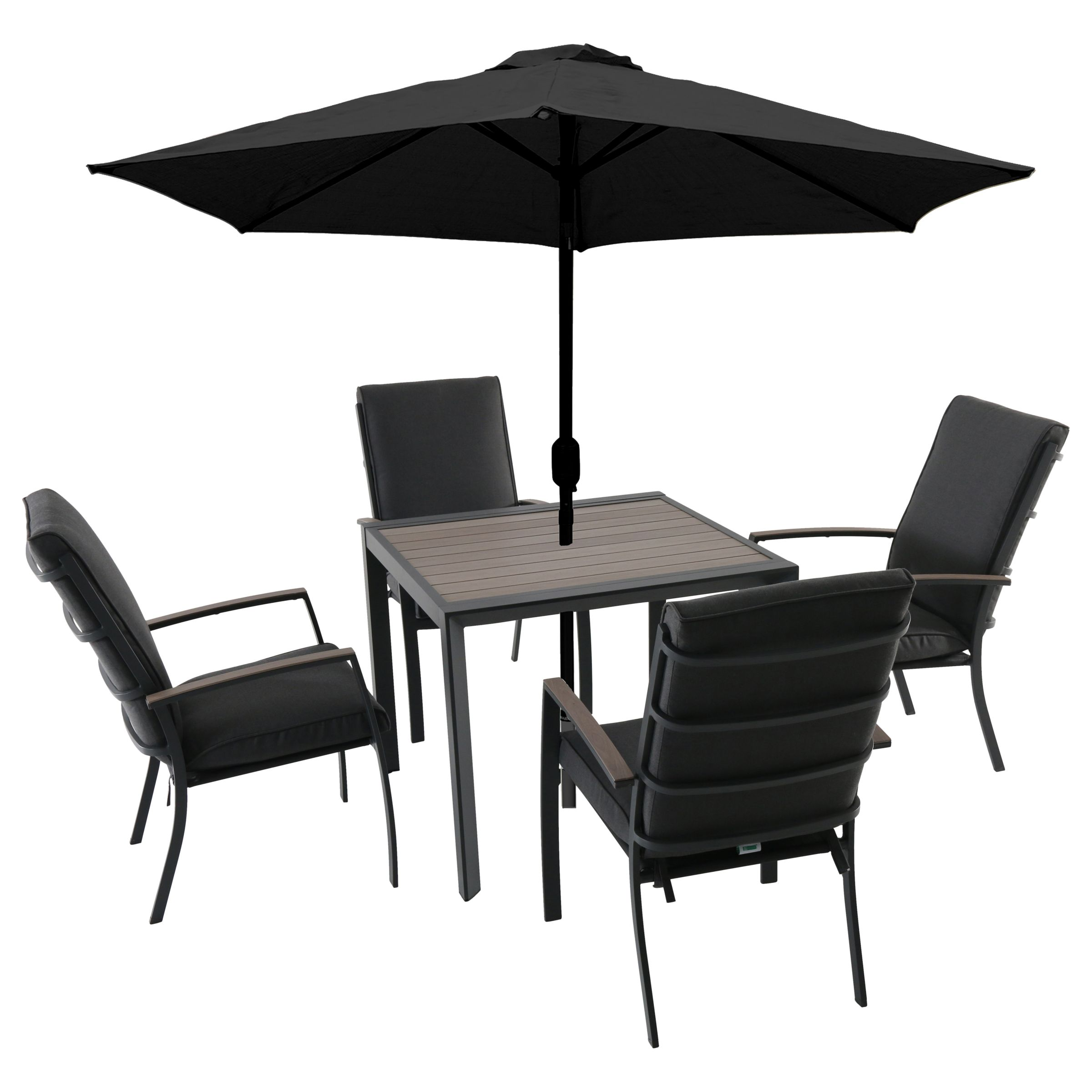 Outdoor Table And Chair Set Lg Outdoor Milan 4 Seater Garden Dining Table Chairs Set With