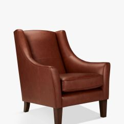 Dark Brown Leather Chair Aluminium Reclining Garden Chairs Uk Armchairs Furniture John Lewis Partners Mario Armchair Leg