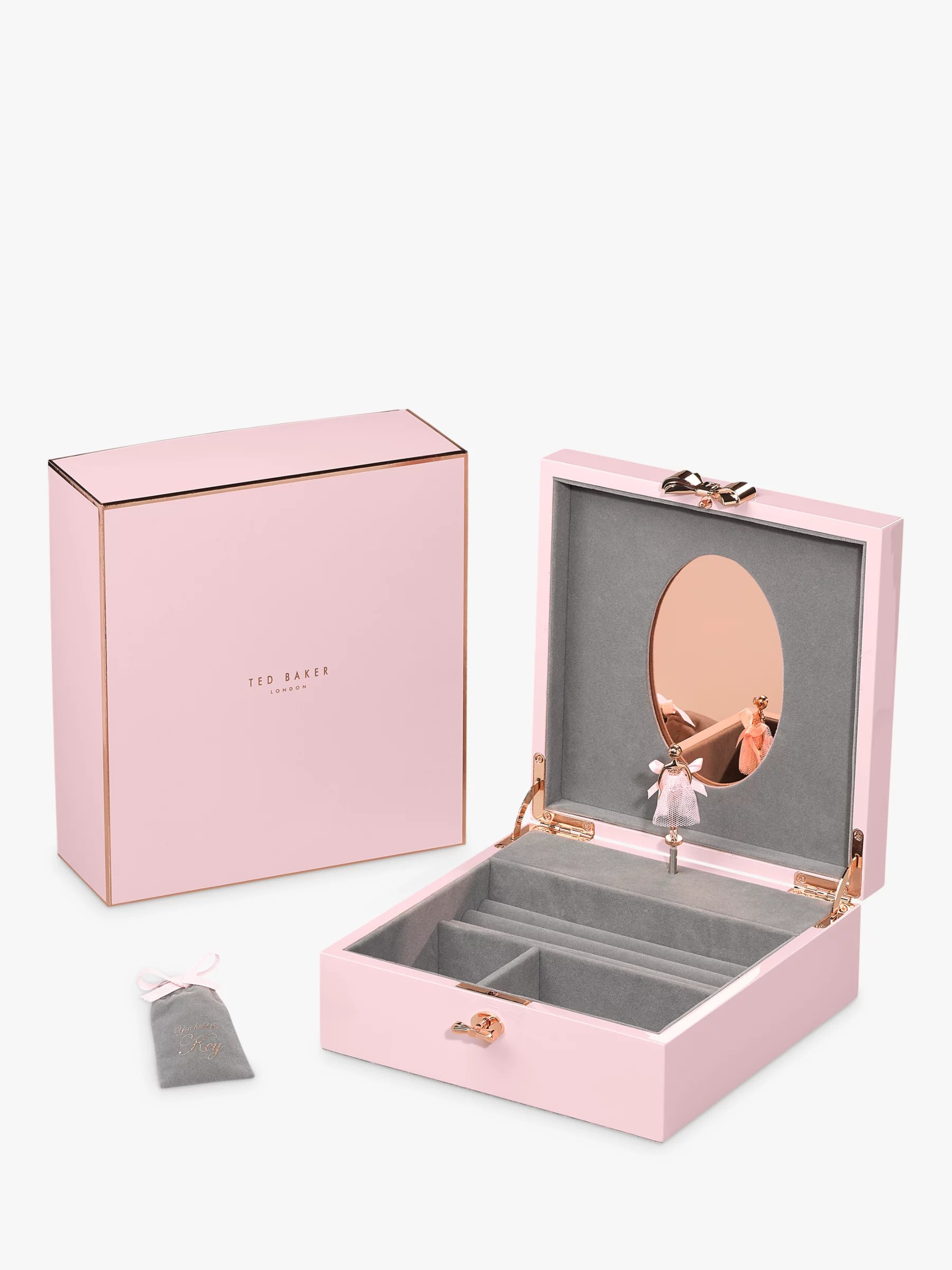 Ted Baker Letyi Large Ballerina Jewellery Box Pink At