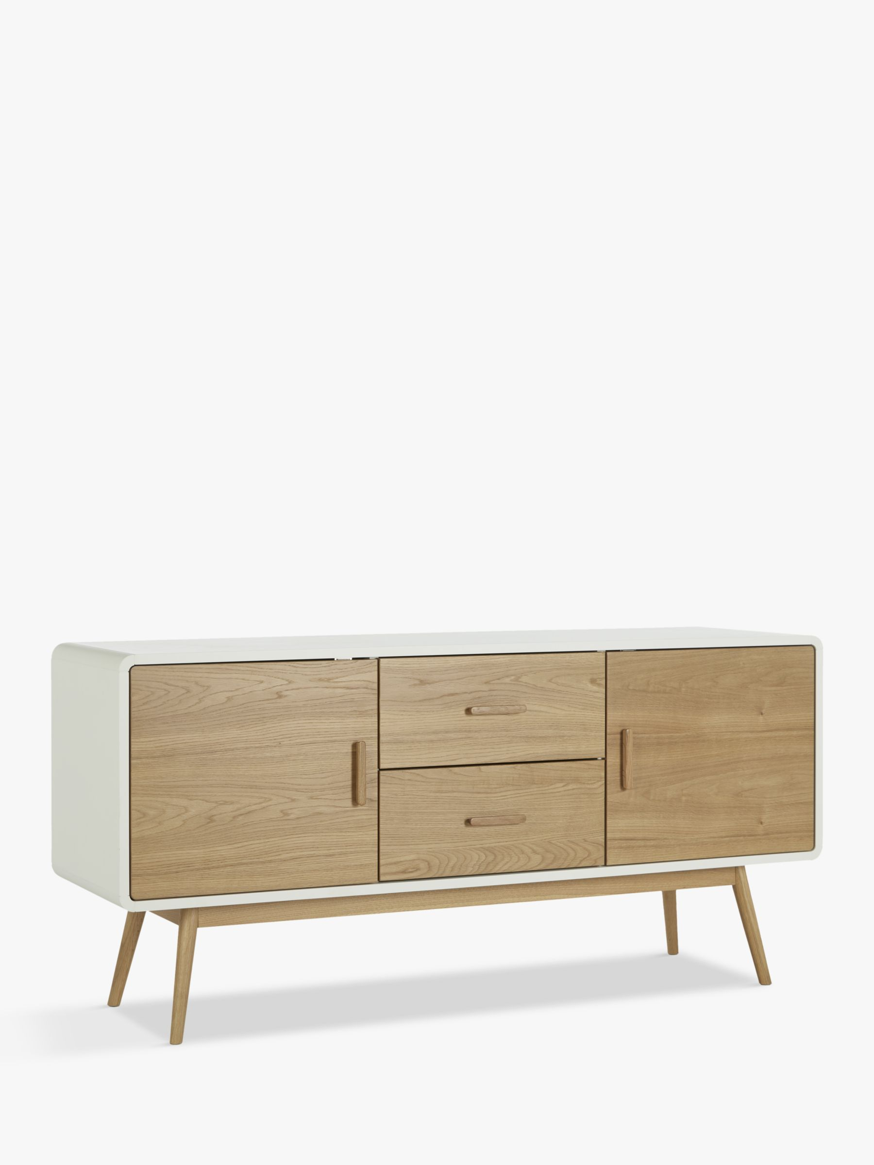 white sideboards for living room 3 piece furniture sets modern oak sideboard john lewis partners torino large