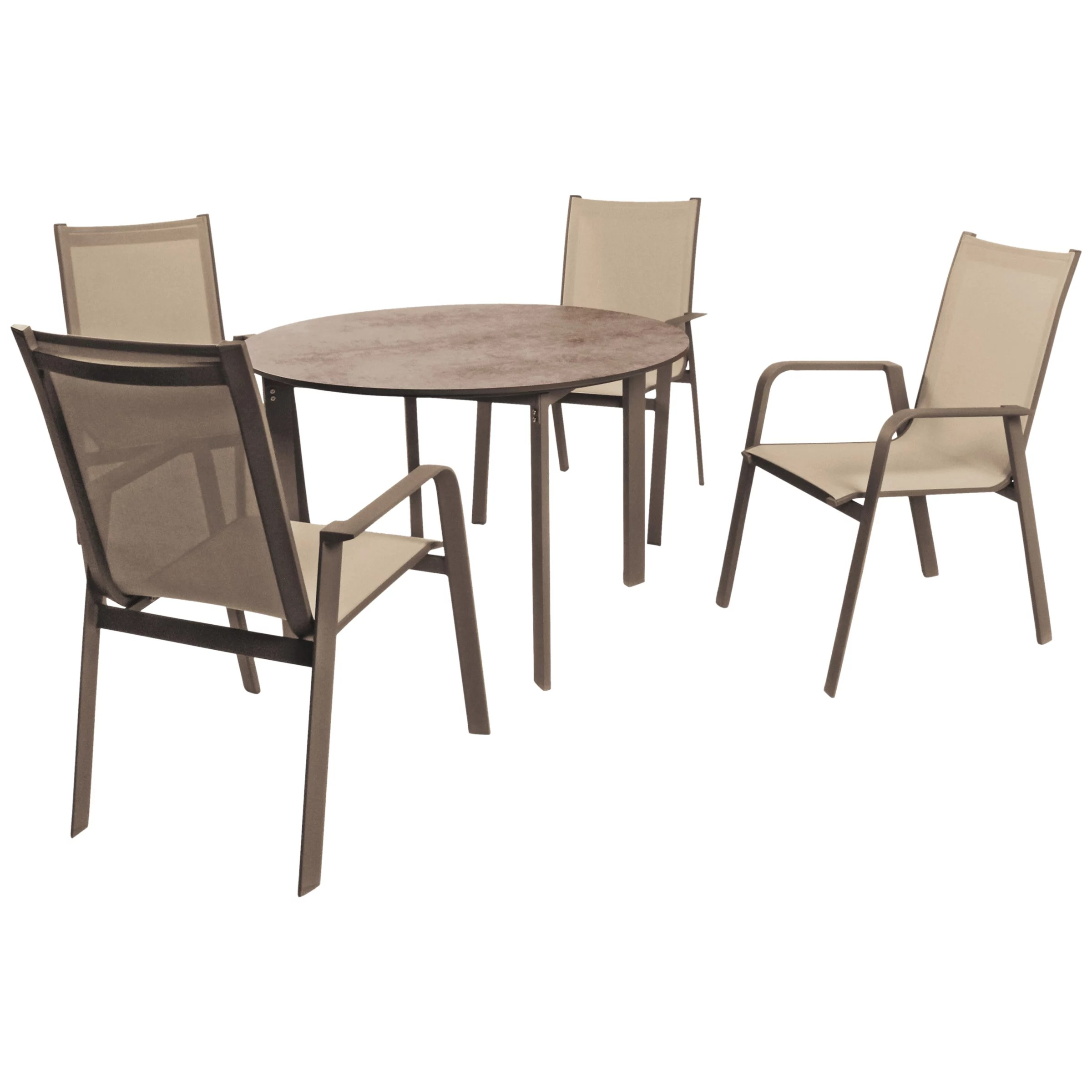 4 seater outdoor table and chairs wing chair covers ikea kettler milano garden set taupe