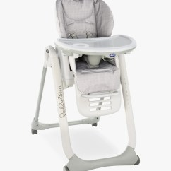 Retro High Chairs Babies White Wood Kitchen Highchairs Boosters John Lewis Partners Chicco Polly2start Happy Highchair Silver