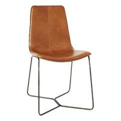 Chrome Dining Chairs Uk Guest For Office Wooden Leather Fabric John Lewis West Elm Slope Chair Brown