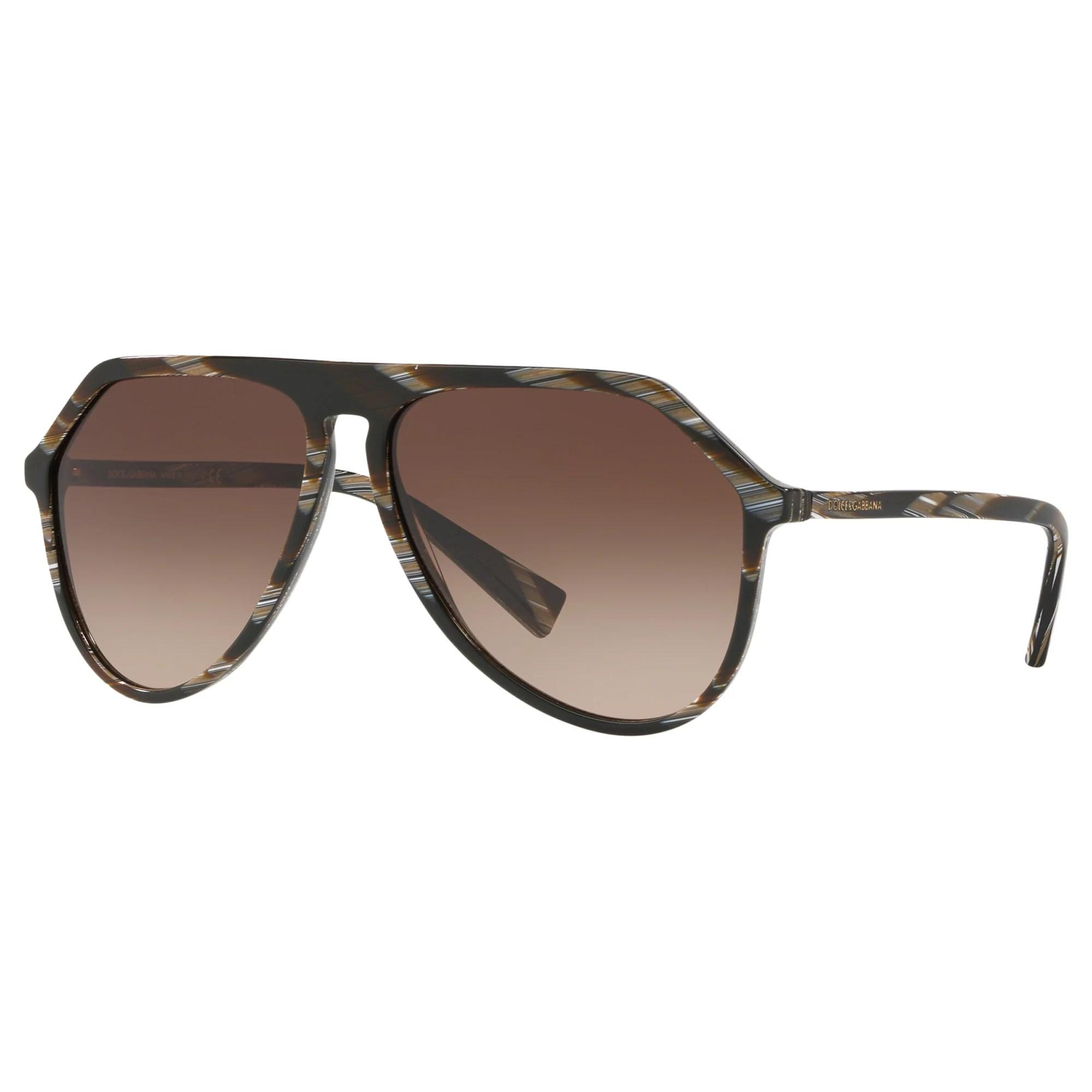 Dolce & Gabbana Dg4341 Men' Aviator Sunglasses Brown