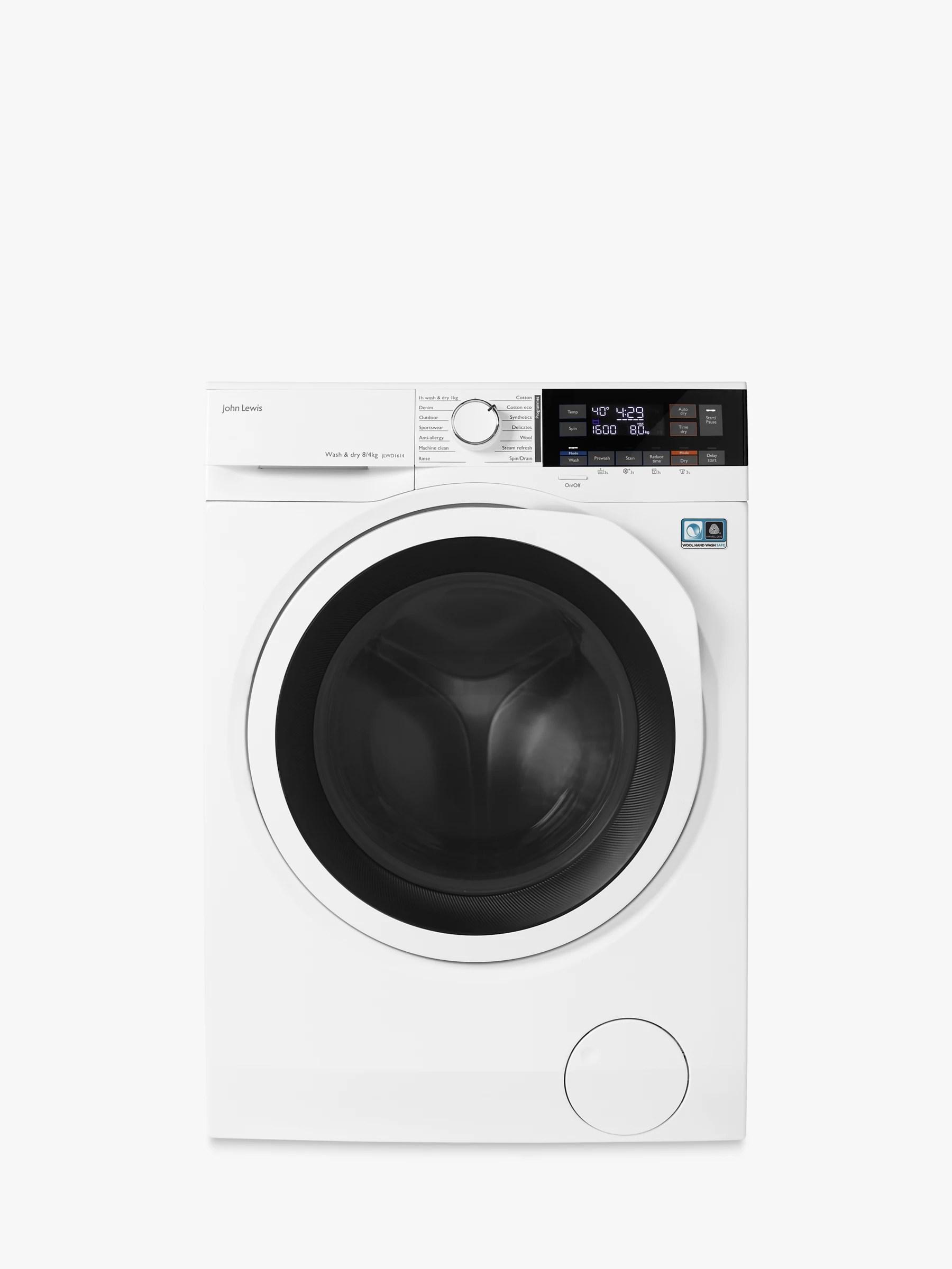 medium resolution of buy john lewis partners jlwd1614 freestanding washer dryer 8kg wash 4kg dry load