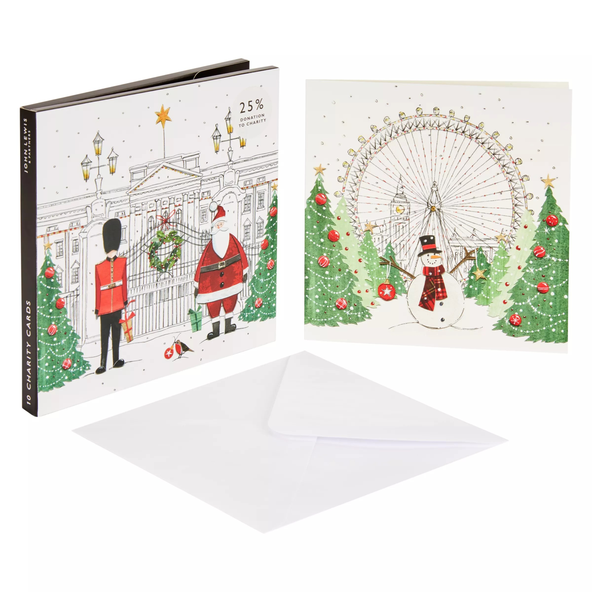 John Lewis Amp Partners Festive London Christmas Card Pack