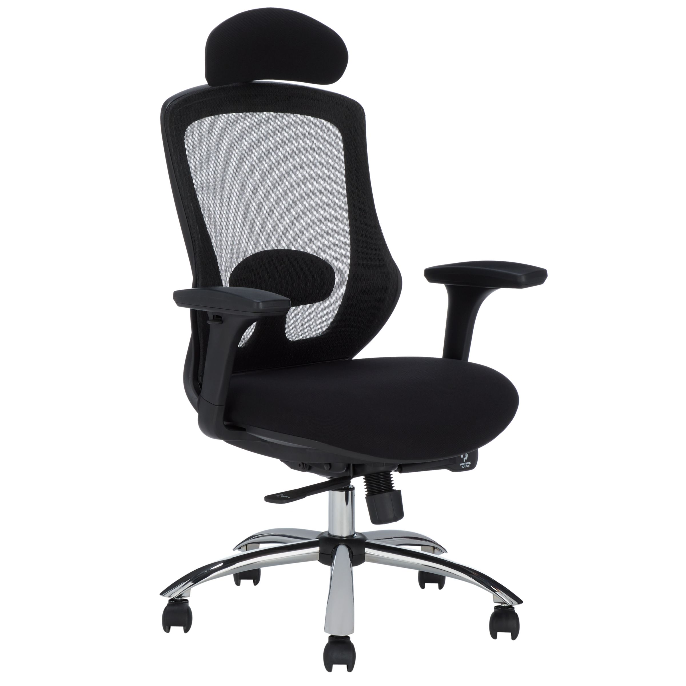 Office Chair Posture John Lewis Partners Isaac Ergonomic Office Chair Black