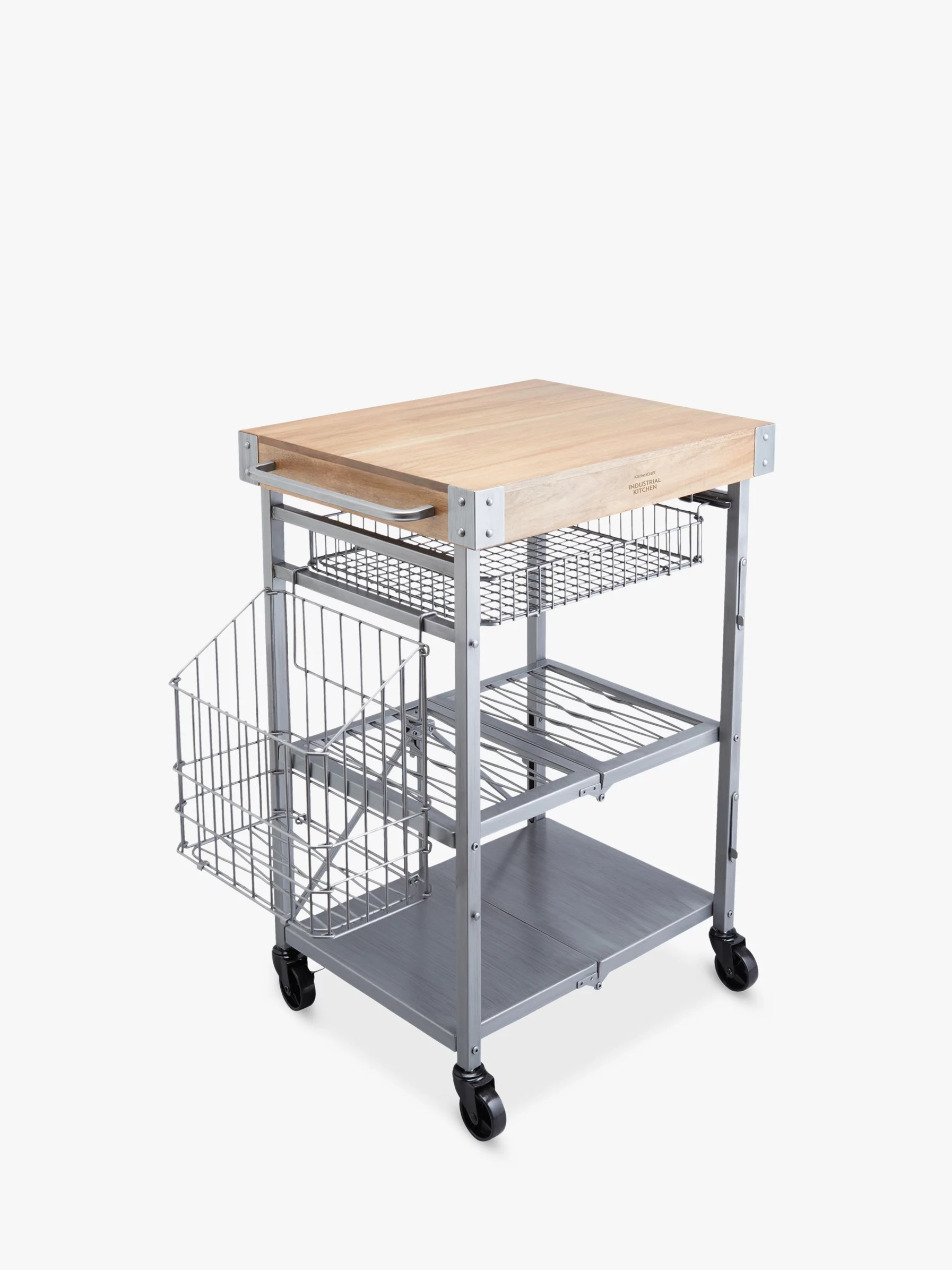 kitchen trolley clogs butcher s trolleys and utility john lewis craft folding butchers