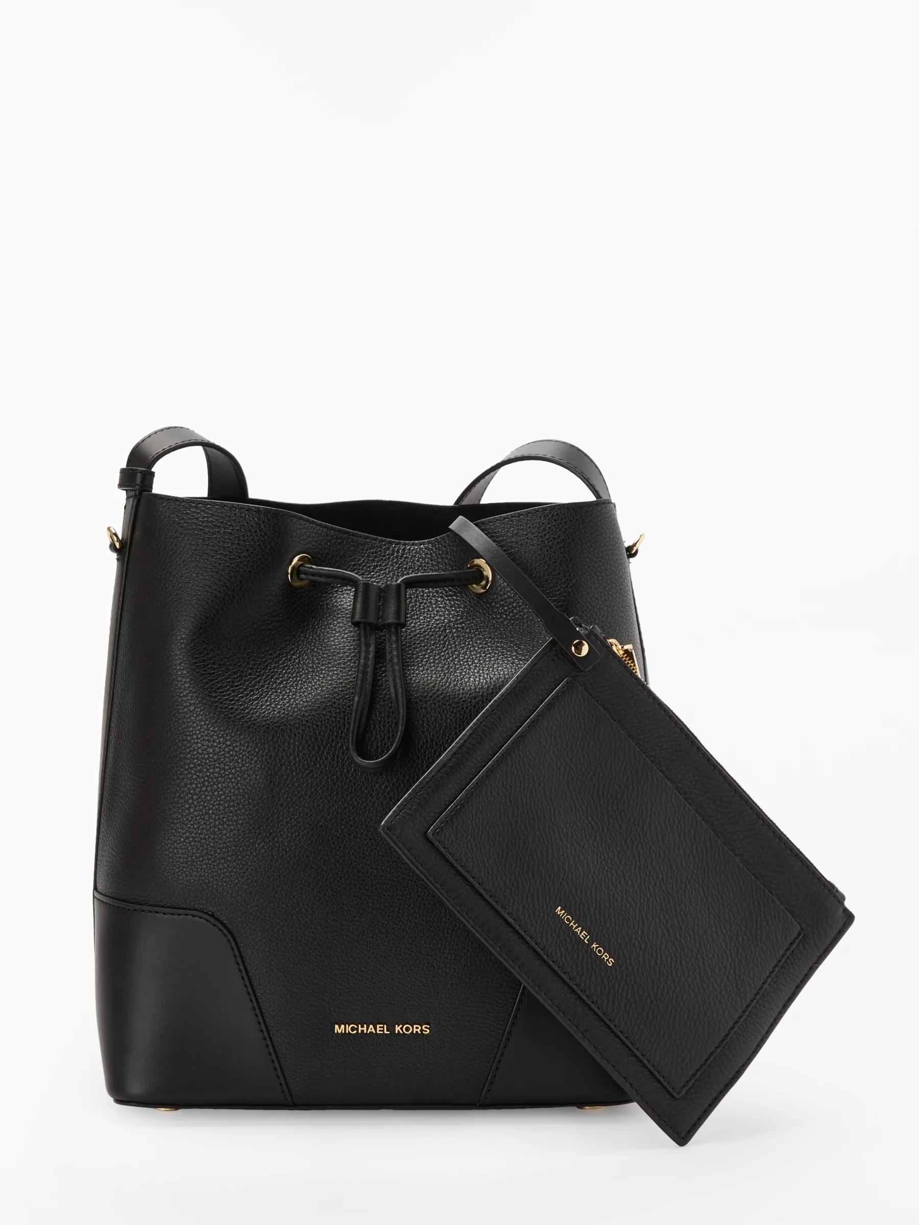 Michael Kors Cary Medium Leather Bucket Bag