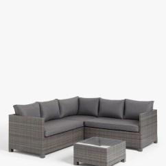 6pc Milan Modular Rattan Corner Sofa Set Dillards Covers Outdoor Garden Table And Chair Sets Ranges John Lewis Partners Alora 4 Seater Lounging Brown