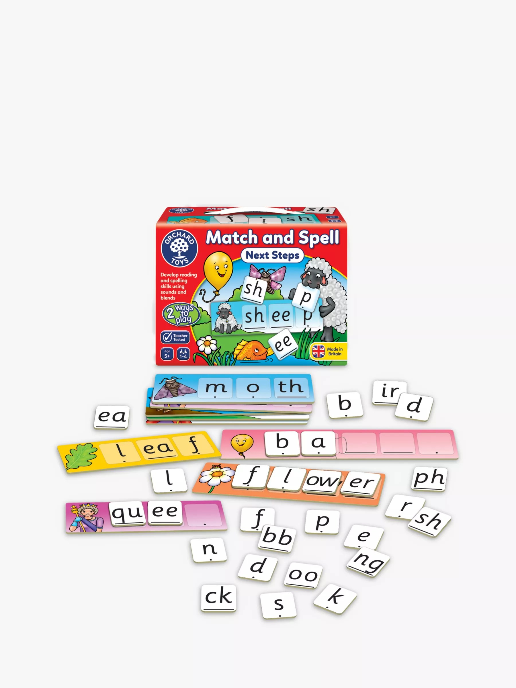 Orchard Toys Match And Spell Next Steps Spelling Game At
