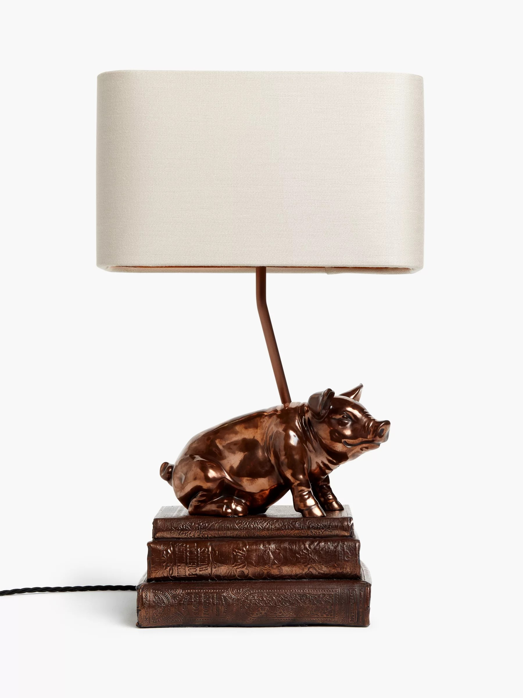 lamps for living room rooms sale table furniture john lewis partners david hunt frank the pig lamp copper