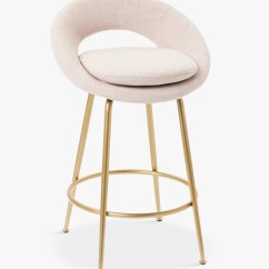 Spinning Top Chair South Africa Senior Potty Bar Stools Chairs Breakfast John Lewis Partners West Elm Orb Stool Blush