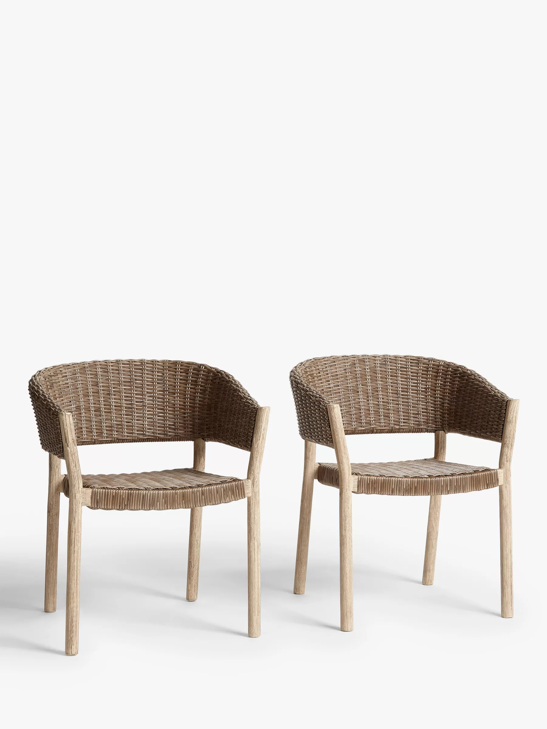 Woven Dining Chair Croft Collection Burford Garden Woven Dining Chairs Set Of 2 Fsc
