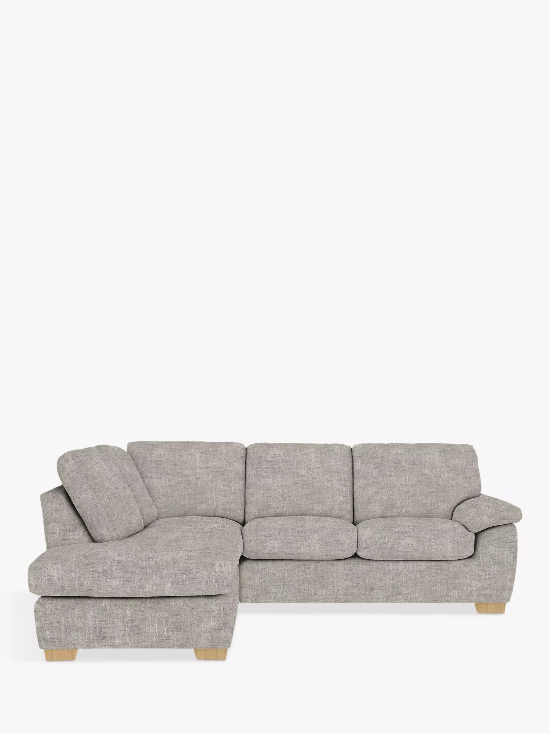sofa bed and chaise synthetic leather cleaning camden sofas beds john lewis partners lhf corner end unit light leg